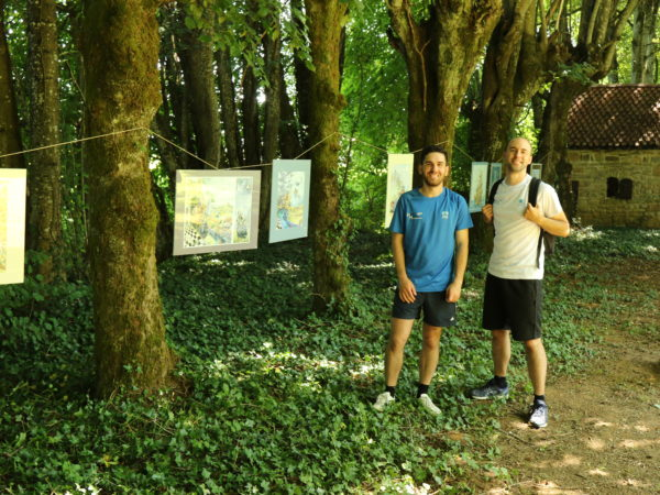 exposition très temporaire dans les jardins de Boris beluche