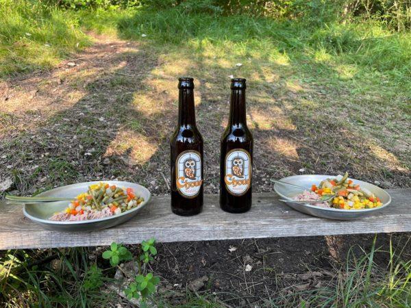 repas avec bière Choue