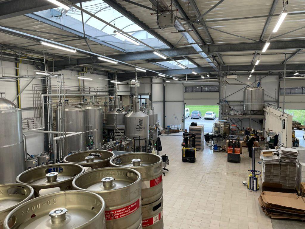 usine brasserie de Vauclair la choue