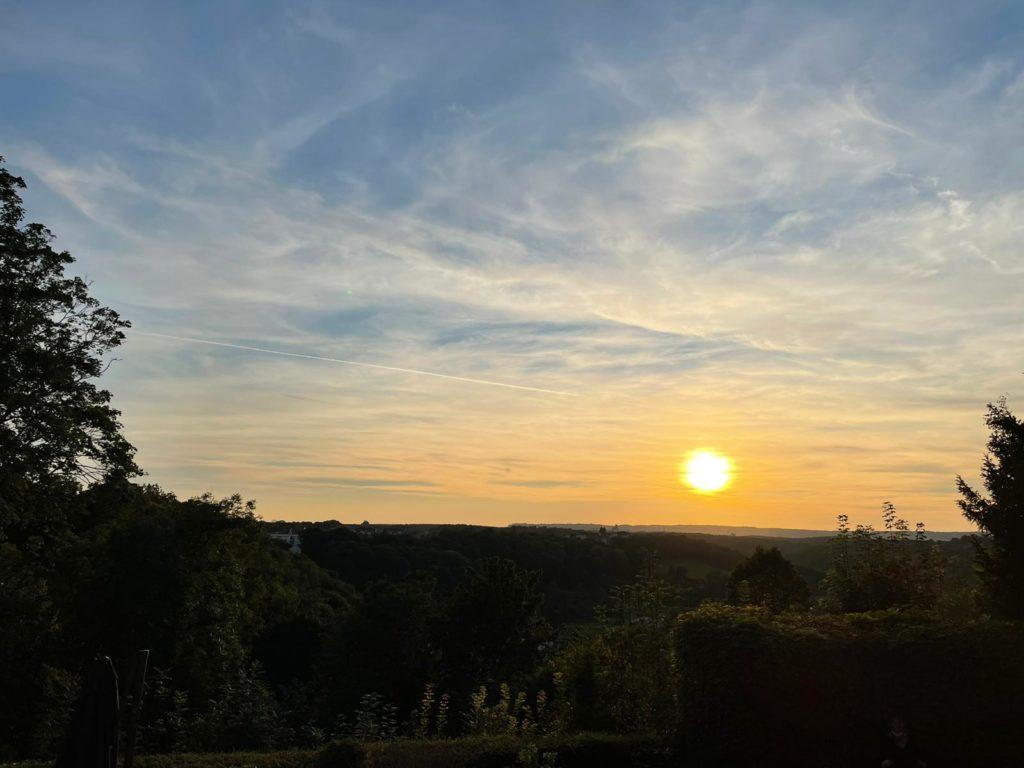 coucher de soleil à Chaumont